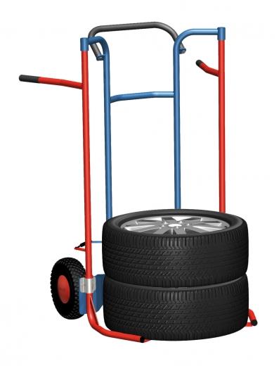 Niedrige Reifenkarre