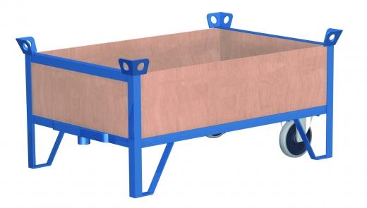 Stapelbare Rollplattenwagen mit 4 Wänden