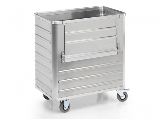 Aluminium Transportwagen mit Ladeklappe