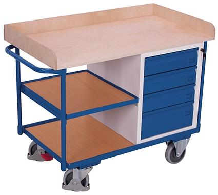 Werkstattwagen mit Ablageumrandung
