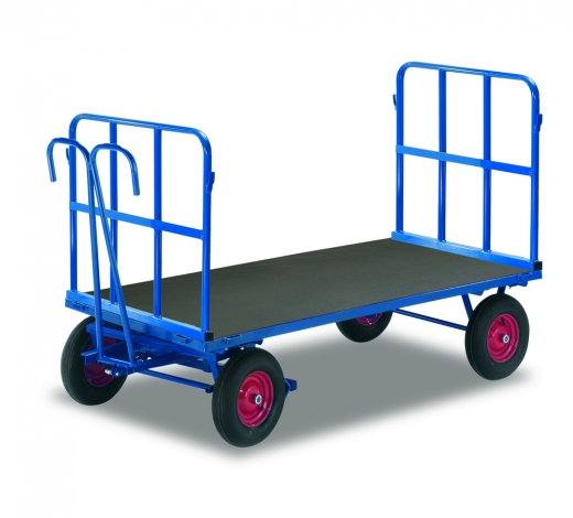 Handpritschenwagen mit 2 Rohrgitterwänden