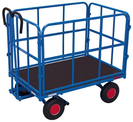 Handpritschenwagen mit 4 Rohrgitterwänden