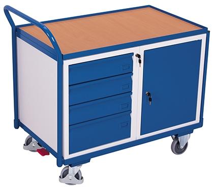 Montagewagen mit Schubladen u. Schrank