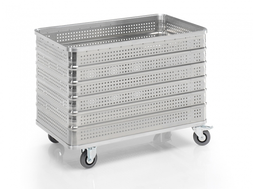 Wäschewagen aus Aluminium