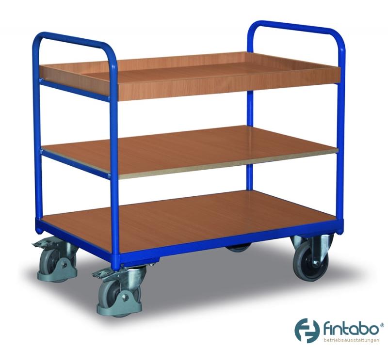 Regalwagen mit zwei Böden und ein Tablett