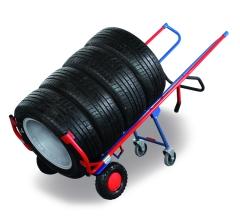Reifenkarren mit Stützrad