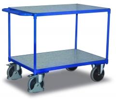Tischwagen mit Zinkblechladeflächen