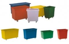 Fahrbarer Kunststoffbehälter