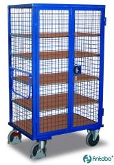 Abschließbare Etagenwagen mit Drehriegel