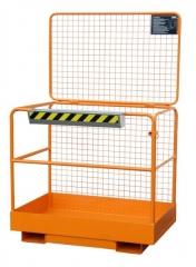 Arbeitsbühne für Stapler mit Unterfahrschutz