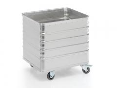 Transportwagen aus Aluminium 730 x 605 x 730 mm (L x B x H)
