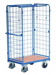 Hoher Paketwagen mit drei Gitter