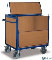 Holzkastenwagen mit Deckel