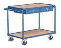 Flacher Tischwagen mit Schubladen